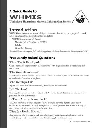 Picture of Canada WHMIS Guide