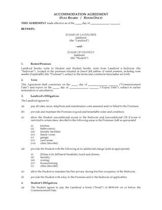 Picture of Western Australia Student Accommodation Agreement