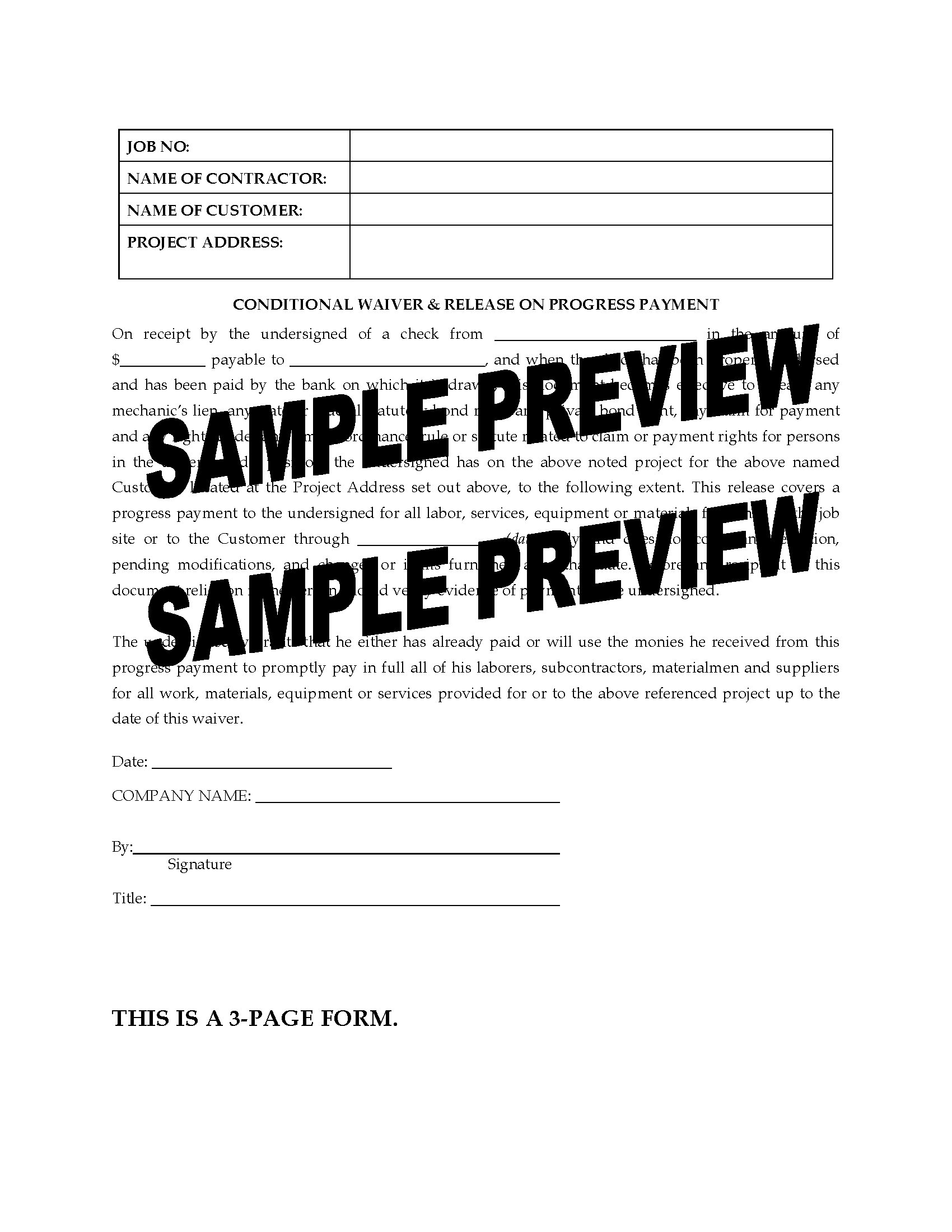 lien release forms