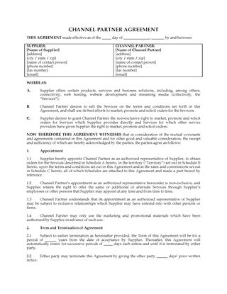 Picture of USA Channel Partner Agreement