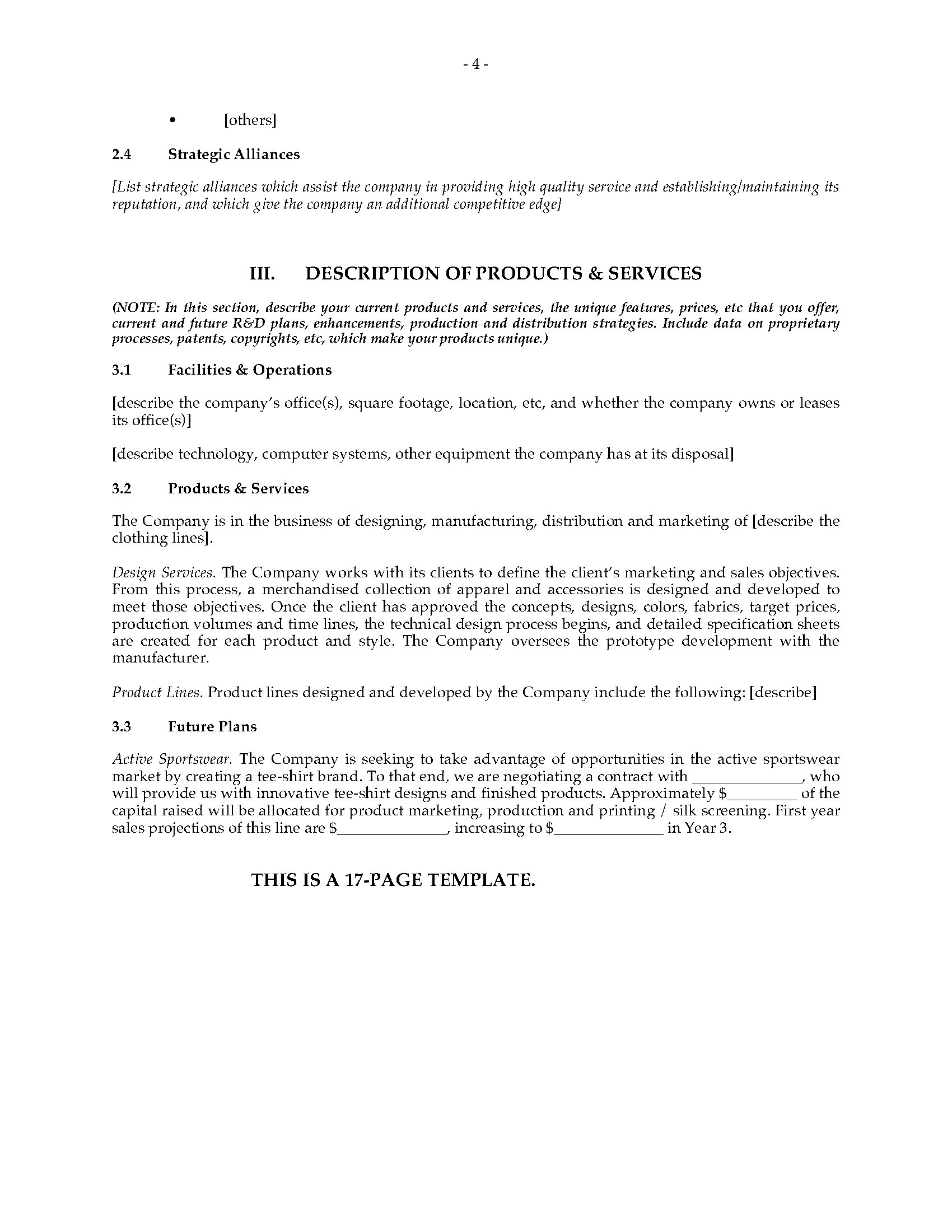 Fashion Designer Business Plan | Legal Forms and Business ...