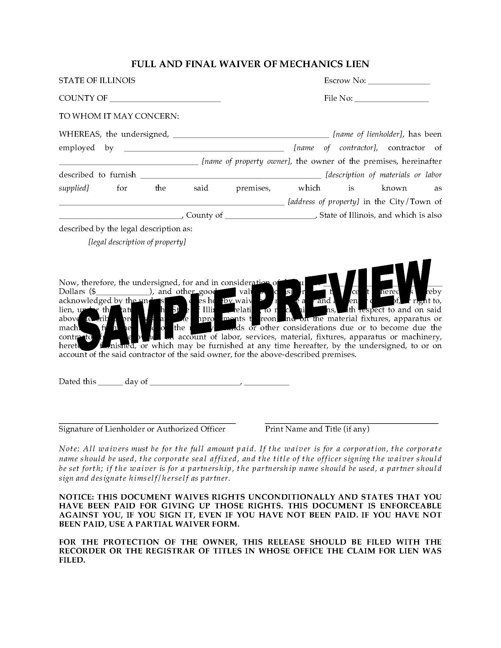 Lien release form nj mersnoforum lien release form nj altavistaventures Images