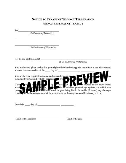 Picture of Utah Notice to Tenant of Tenancy Termination for Tenancy At Will