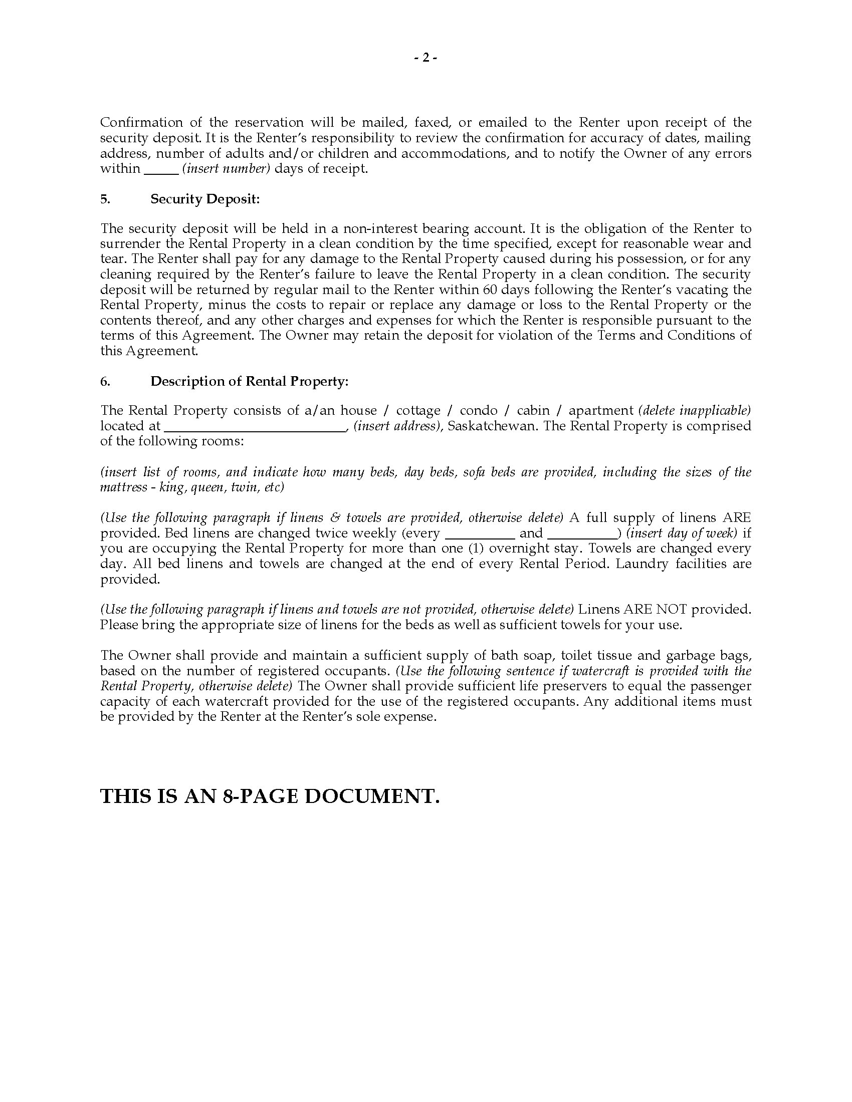 saskatchewan vacation property rental agreement legal forms and picture of saskatchewan vacation property rental agreement picture of saskatchewan vacation property rental agreement