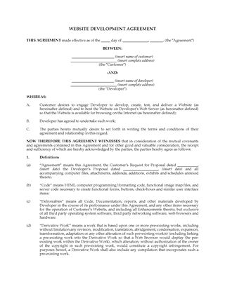 Picture of Canada Website Development Agreement