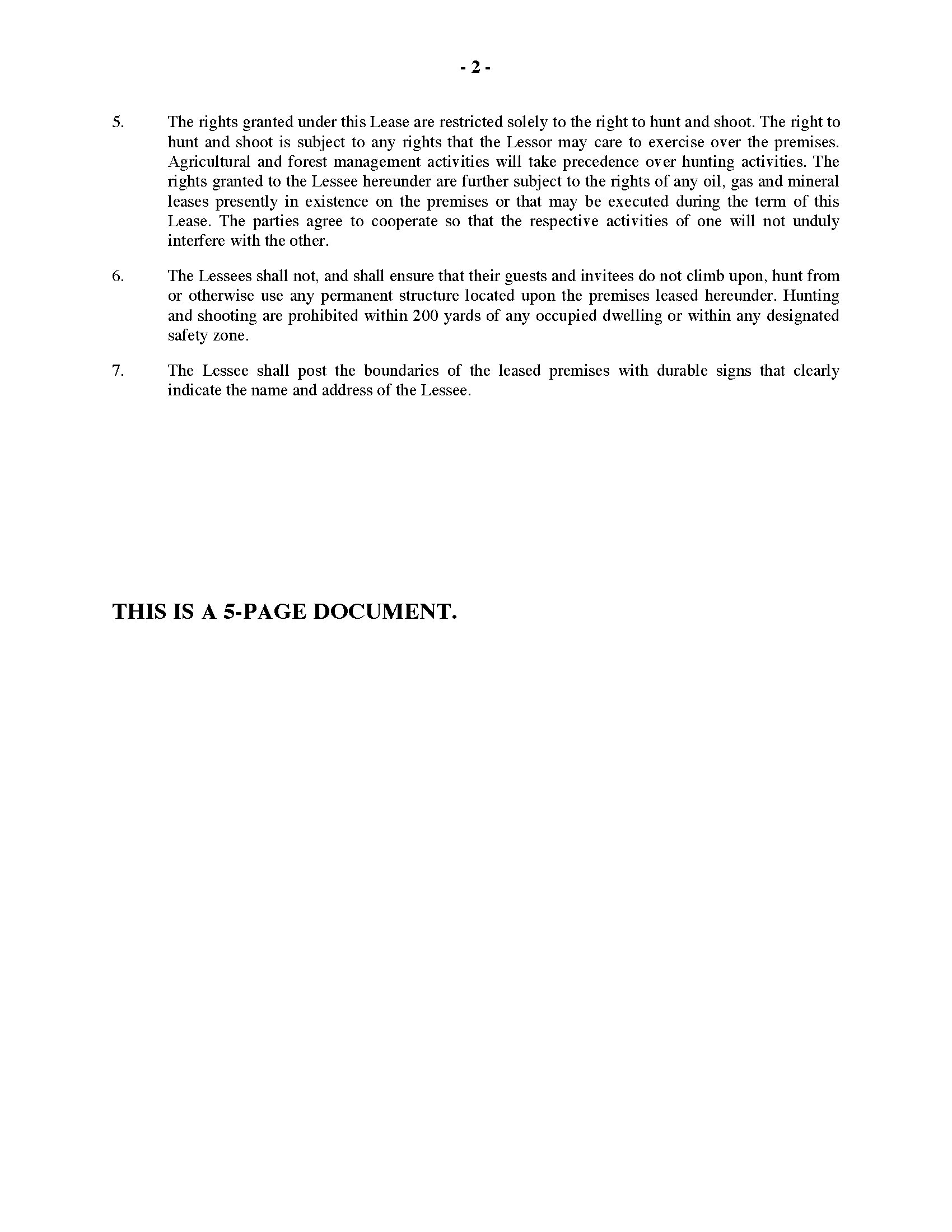 Arkansas Hunting Lease Agreement – Hunting Lease Agreement
