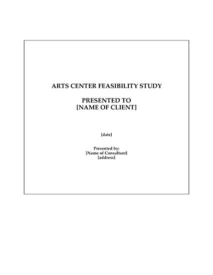 Picture of Feasibility Study for Cultural Arts Center