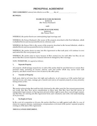 Picture of UK Prenuptial Agreement