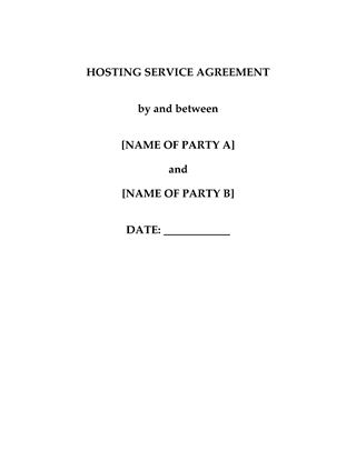Picture of China Web Hosting Service Agreement