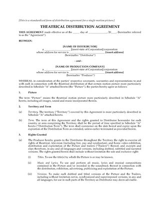 film distribution and licensing contracts legal forms and
