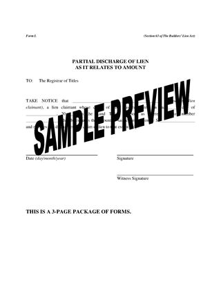 Picture of Saskatchewan Lien Discharge Forms Package