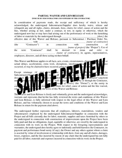 Picture of Ohio Subcontractor and Supplier Lien Waiver and Release Forms