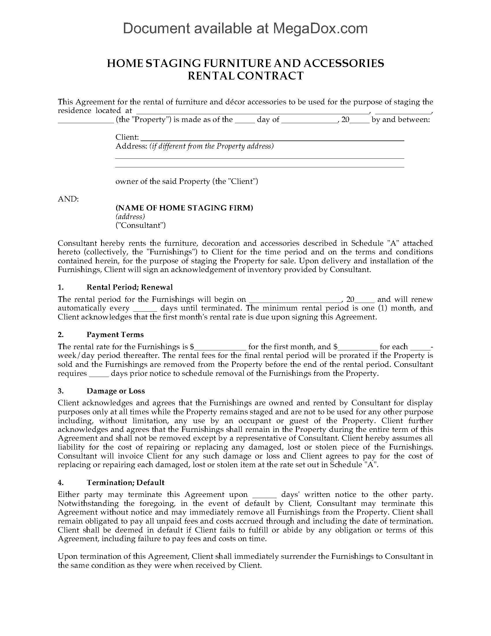 Puerto Rico Month To Month Rental Agreement Lease