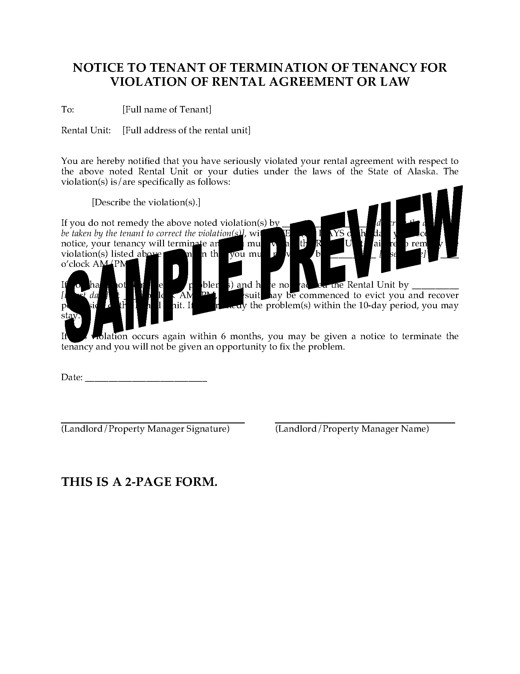 ORG Lease Termination Form