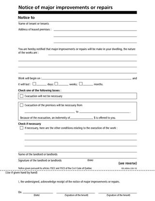 notice to tenant to make repairs form letter office templates