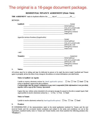 Picture of Saskatchewan Residential Fixed Term Tenancy Agreement