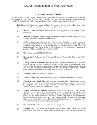 Canada Letter Of Intent To Purchase Business Assets  Legal Forms