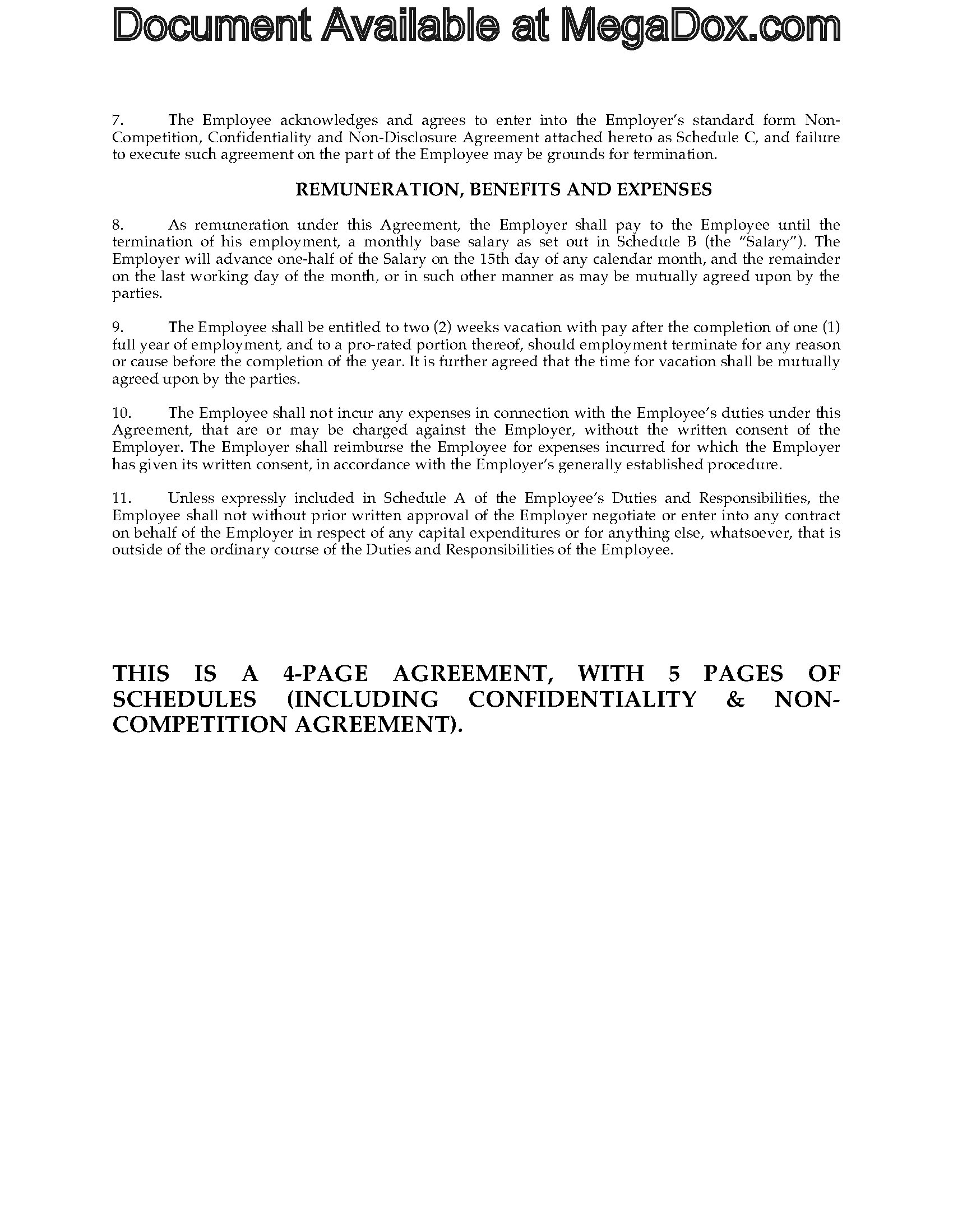 ... Picture Of Employment Agreement (Canada)
