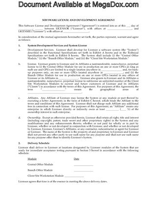 Picture of Software Development Agreement with Perpetual License