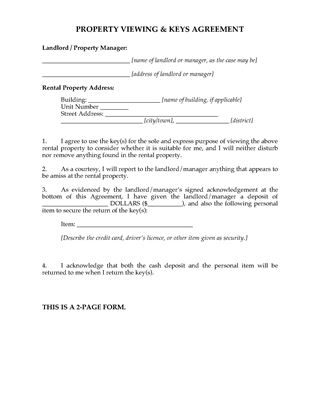 Picture of New Zealand Rental Property Viewing Agreement