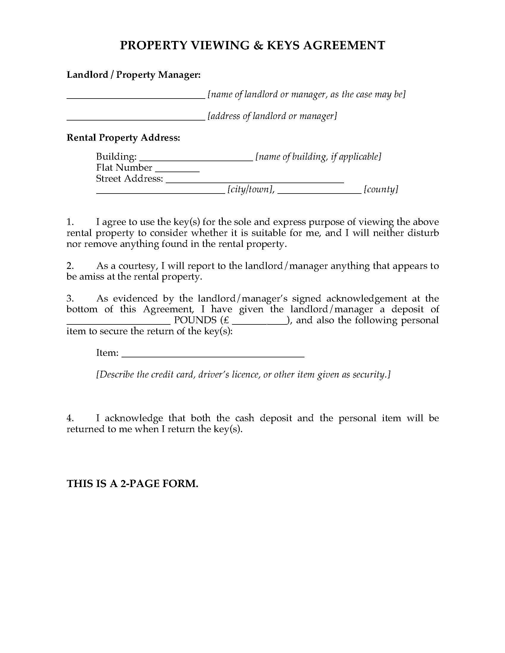 Uk rental property viewing agreement legal forms and business picture of uk rental property viewing agreement reheart Image collections