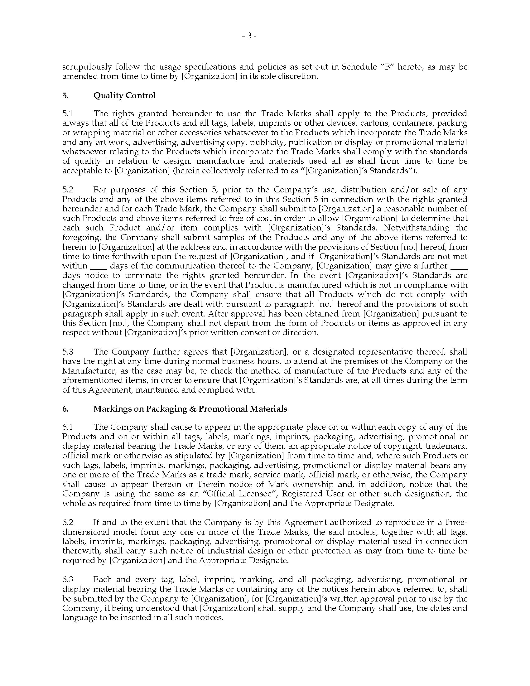 Merchandising License Agreement For Event