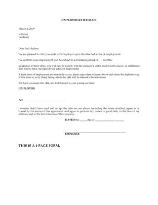 Picture of Employment Confirmation Letter