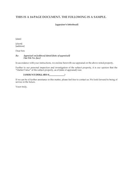 Picture of Appraisal Report for Commercial Property | Canada