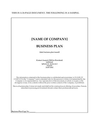 Picture of Software Developer Business Plan to Sell Limited Partnership Units