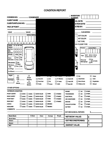 Picture of Vehicle Auction Condition Report for Minivan