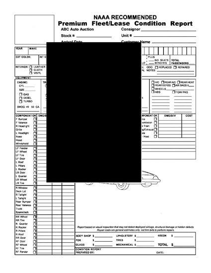 Picture of Premium Fleet / Lease Condition Report for Automobile