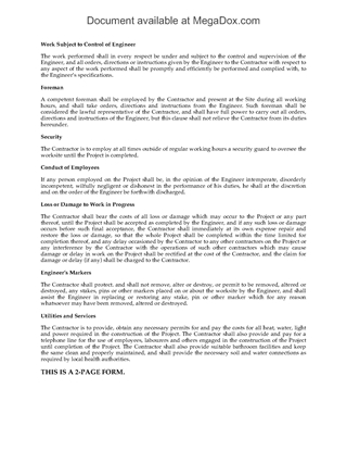 Picture of Construction Contract Clauses for Commercial Building Project