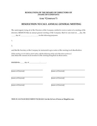 Picture of Annual General Meeting Forms Package | UK