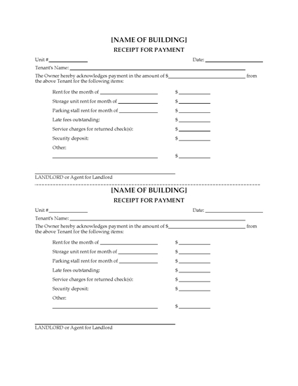 Picture of Monthly Rental Unit Report Forms
