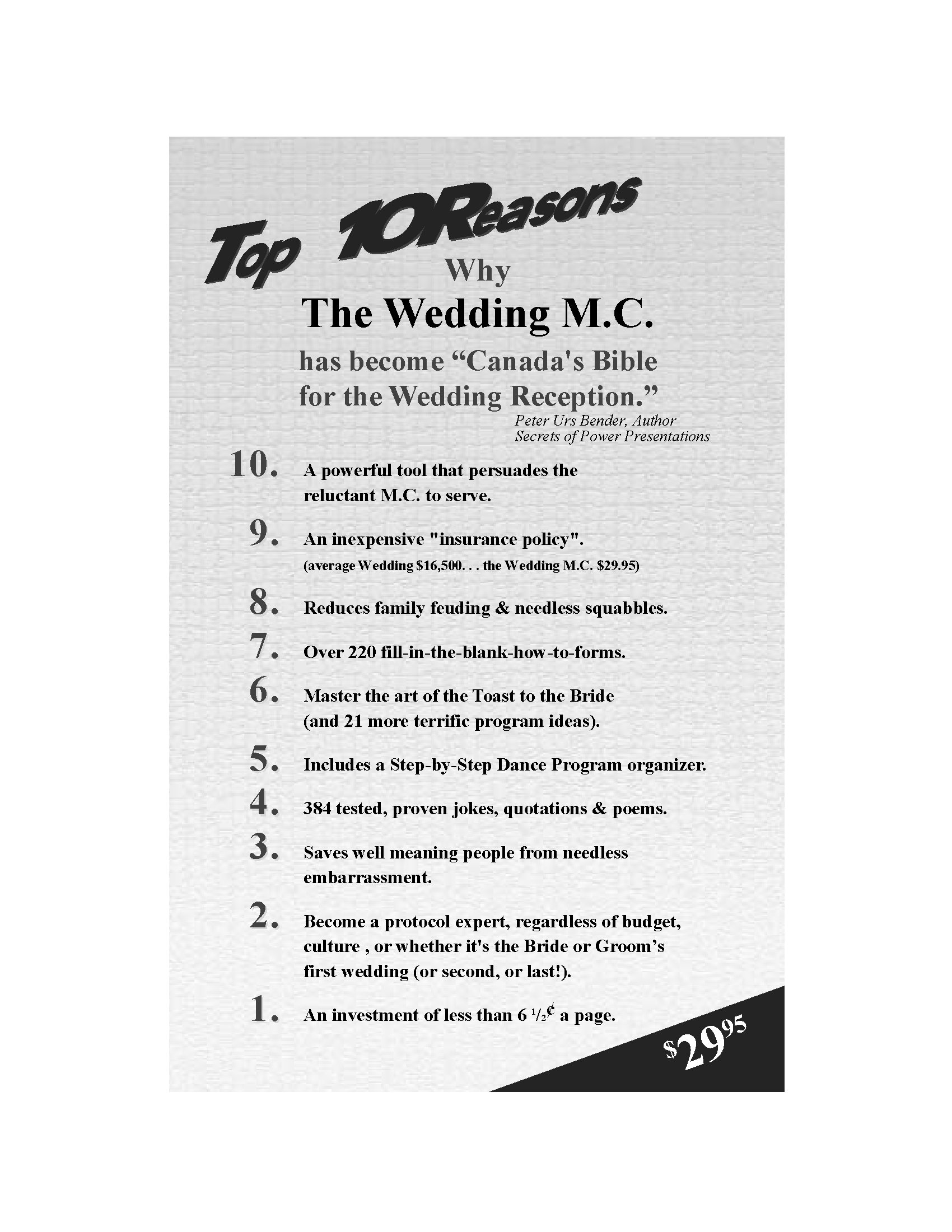 The Wedding Emcee, Guide to the Perfect Wedding Reception | Legal ...