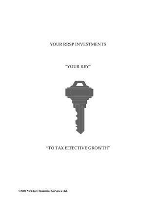 Picture of RRSP's: Your Key to Tax Effective Growth