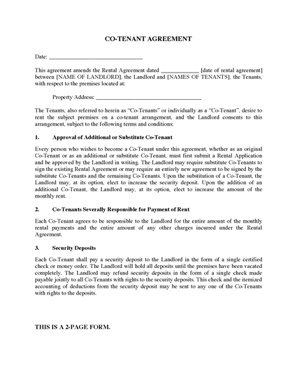 Picture of Co-Tenancy Agreement