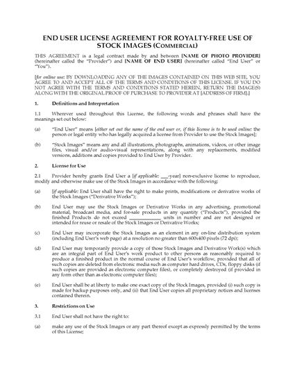 Picture of Stock Photo License for Commercial Use