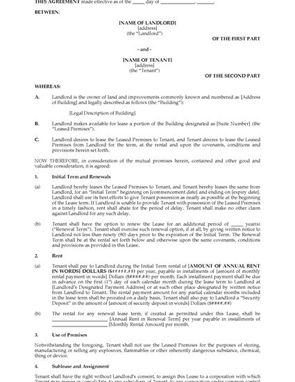 Picture of Connecticut Commercial Lease Agreement