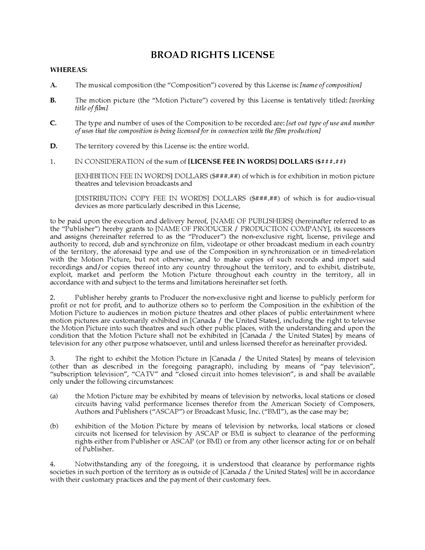 Picture of Broad Rights Sync License for Film Music