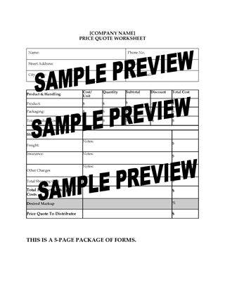 Picture of Sales Department Worksheets Package