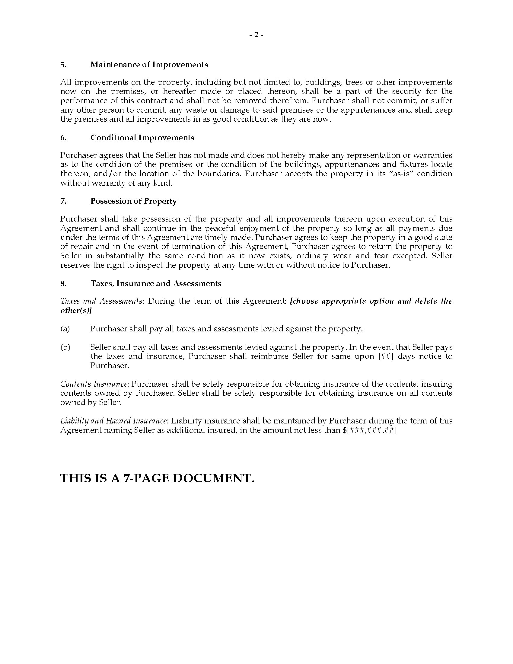 Minnesota Contract for Deed | Legal Forms and Business Templates ...