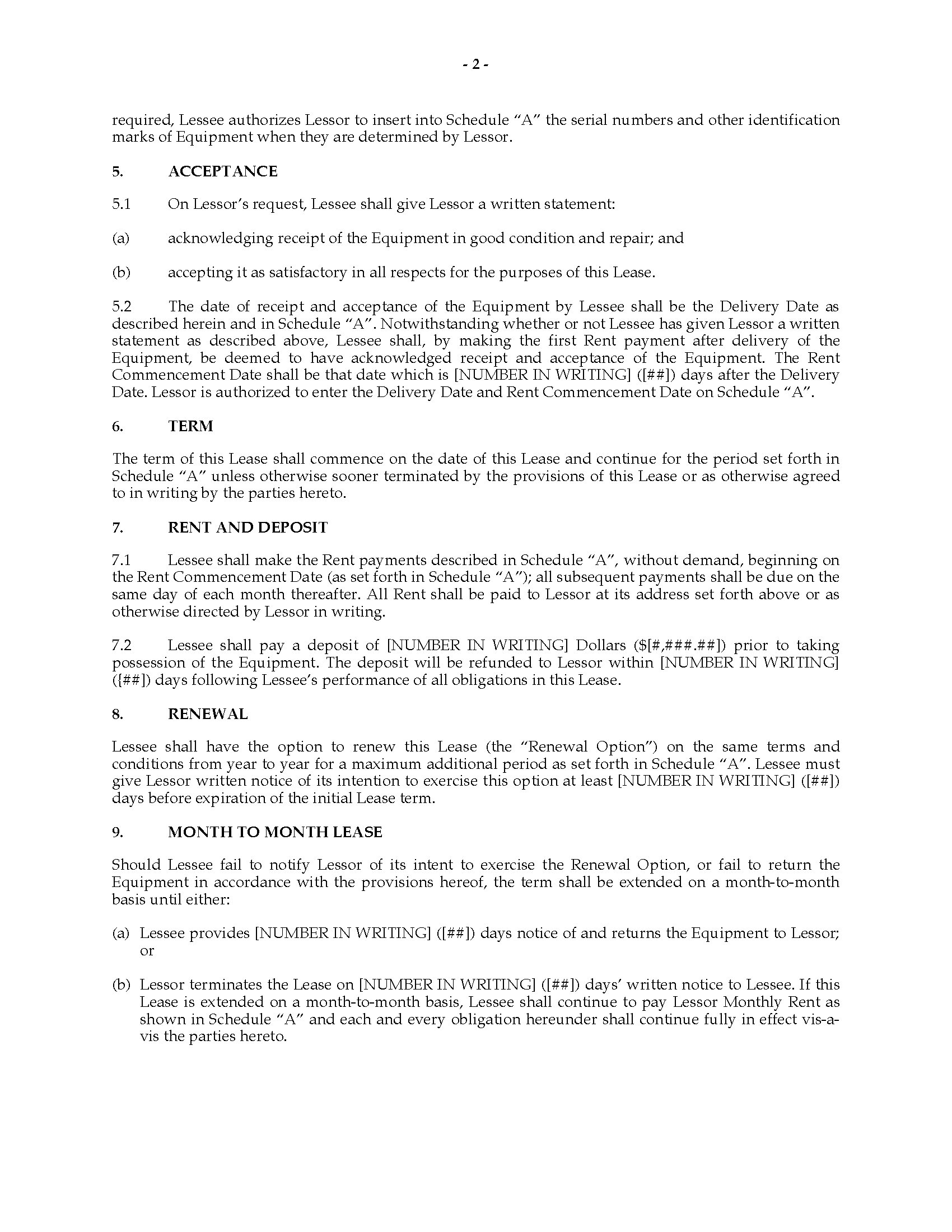 Picture Of Florida Equipment Lease Agreement Picture Of Florida Equipment  Lease Agreement ...