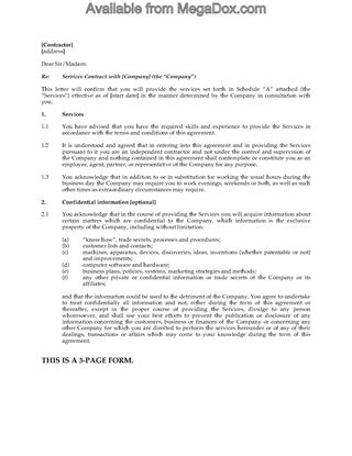 Picture of Independent Contractor Agreement | Canada