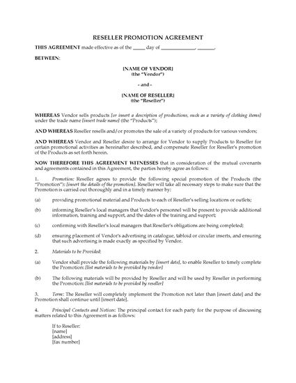 Picture of Event Merchandise Reseller Agreement