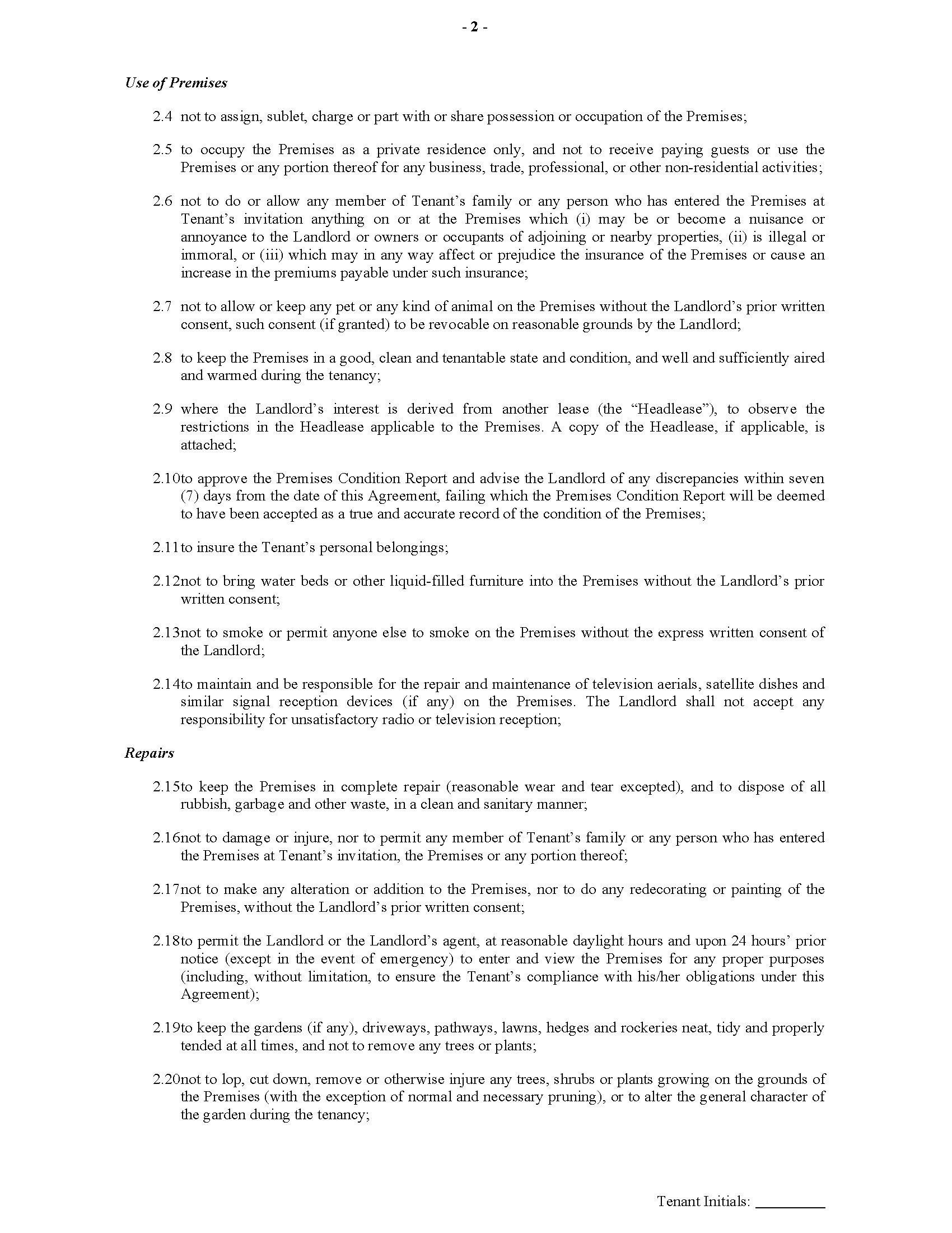 Uk Assured Shorthold Tenancy Agreement Unfurnished Premises