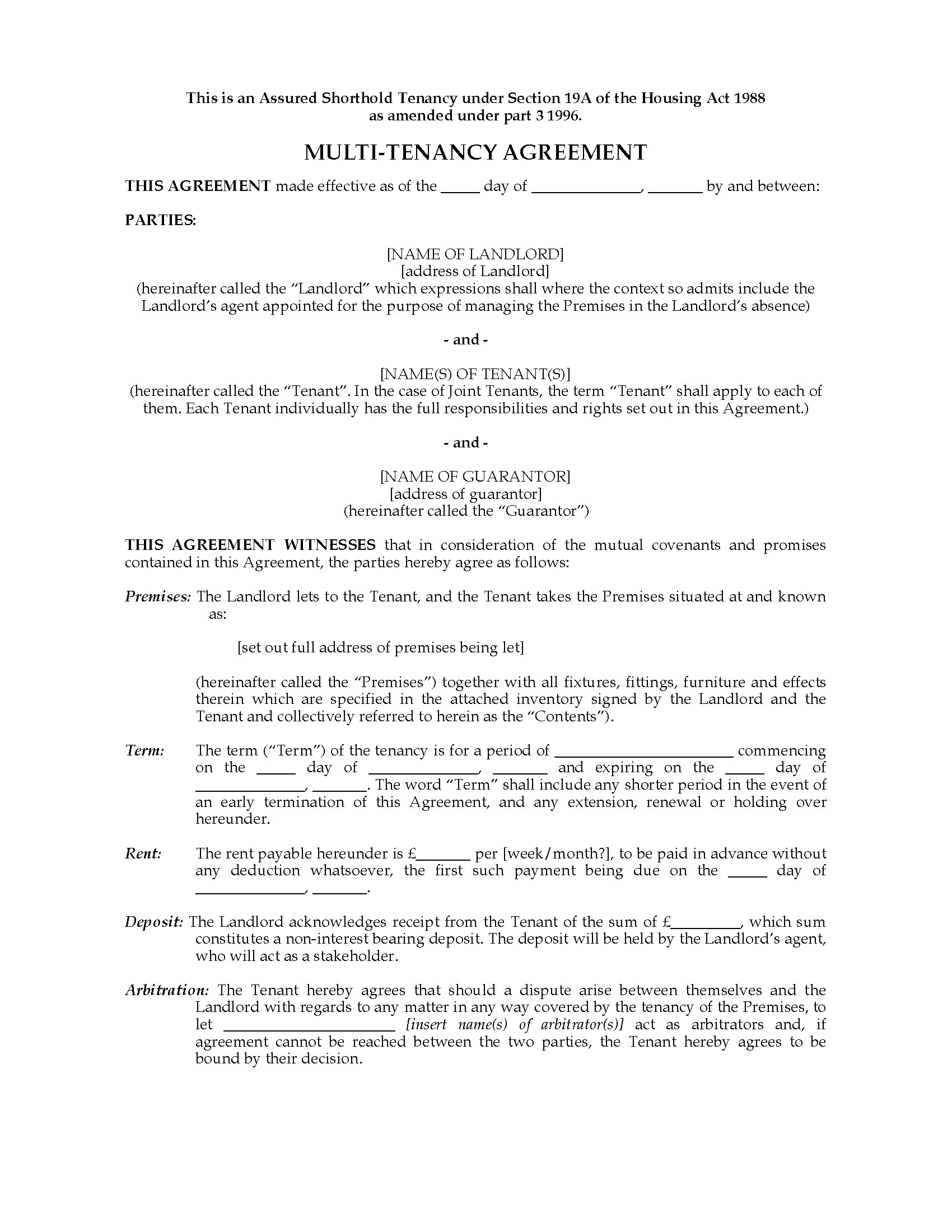 Good Shorthold Tenancy Agreement Template Images Gallery Assured