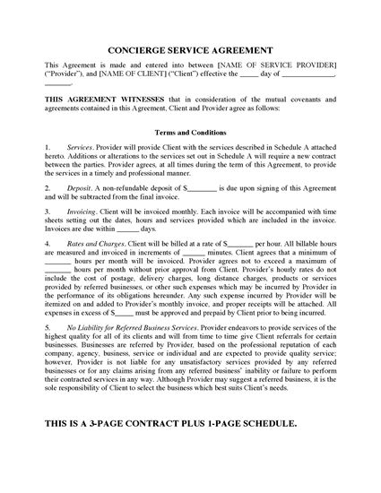 Picture of Concierge Contract