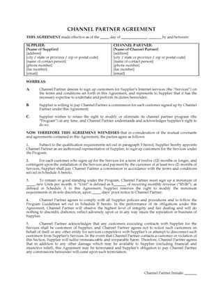 Picture of ISP Channel Partner Agreement