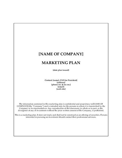 Picture of Software Company Marketing Plan